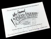 WHO FRAMED ROGER RABBITCrew Screening Invite