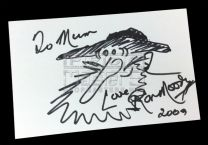 OLIVER!Ron Moody Signed Caricature