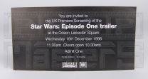 STAR WARS THE PHANTOM MENACETrailer Premiere Invitation
