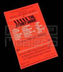 STUNT MAN, THEPreview Ticket