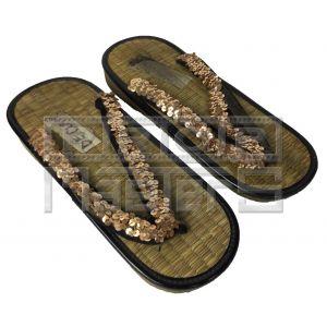 FLASH GORDONGold Sequin Sandals